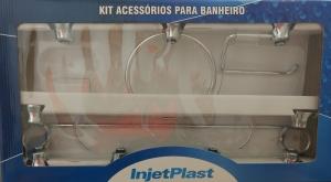 KIT ACESSÓRIOS PARA BANHEIRO 7 PEÇAS ACRÍLICO TRANSPARENTE