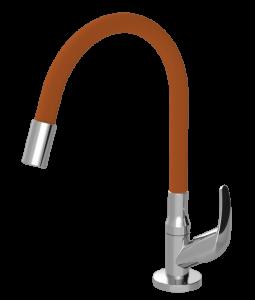 Torneira Gourmet Flexível Laranja Mesa Color Flex 1168