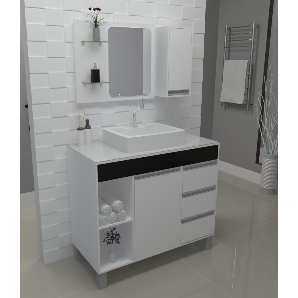 Gabinete Para Banheiro Fit Supreme Gabinetto